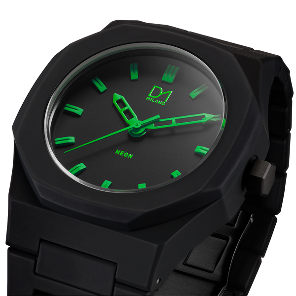 Green Neon Polycarbon 40.5 mm Side View
