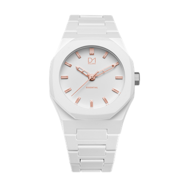 White&Rose Gold Essential Polycarbon 40.5 mm Front View