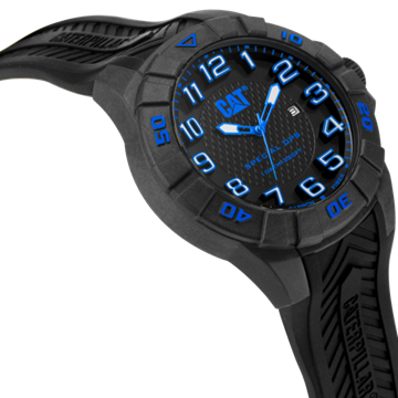 Special OPS 1 Black Blue Front View