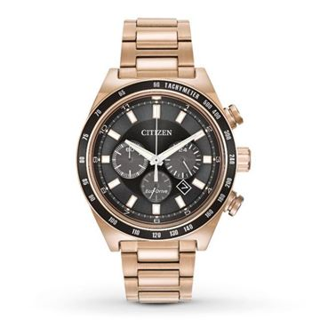 Chronograph Analog  Rose Gold Front View