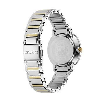 Two Tone Pattern Dial Watch Front View