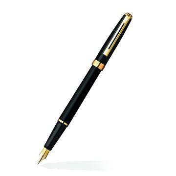 Prelude Black Onyx Pen Oblique View