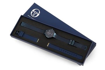 Double Bands Navy Blue In Box View