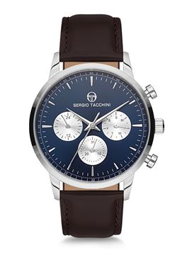 Silver&Blue Dial Front View