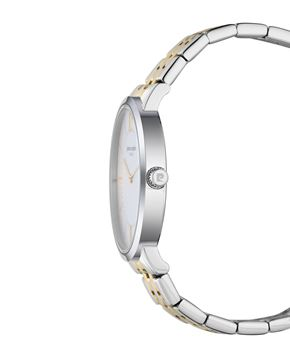 Ladies Gold Stainless Steel Bracelet Front View